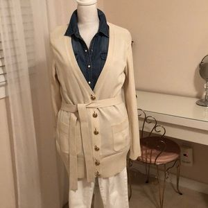Tory Burch Ivory Portia Cardigan New w/Tags L